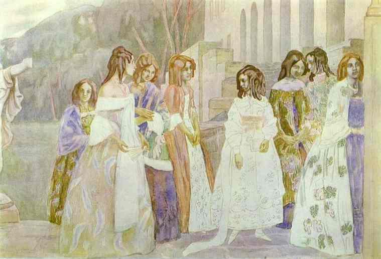 Requiem 1905 | Musatov Victor Borisov | Oil Painting