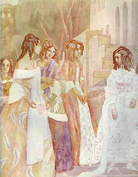 Requiem Detail 1905 | Musatov Victor Borisov | Oil Painting