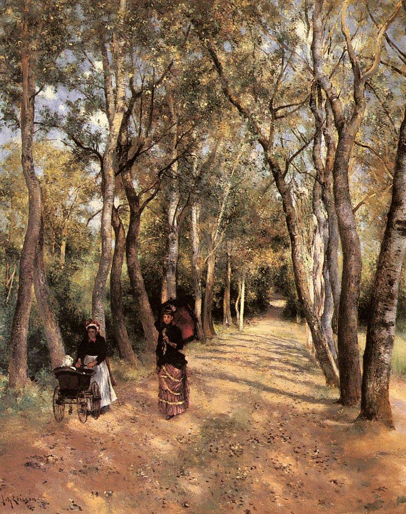 A Woodland Path In Haut Meudon | Johan Ericson | Oil Painting