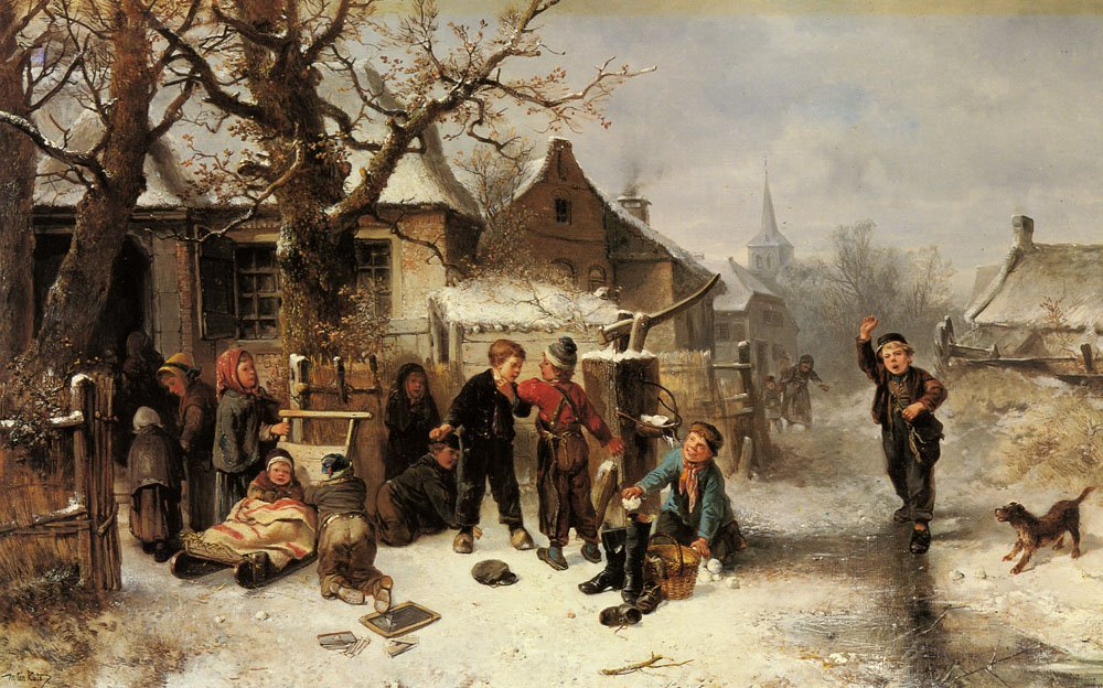 Winter Fun | Johan Mari Ten Kate | Oil Painting