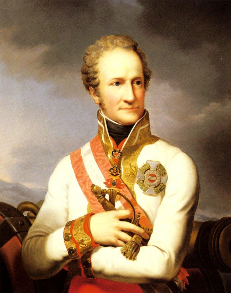 A Portrait Of Johann II Von Liechtenste   Johann Baptist Lampi   Oil Painting