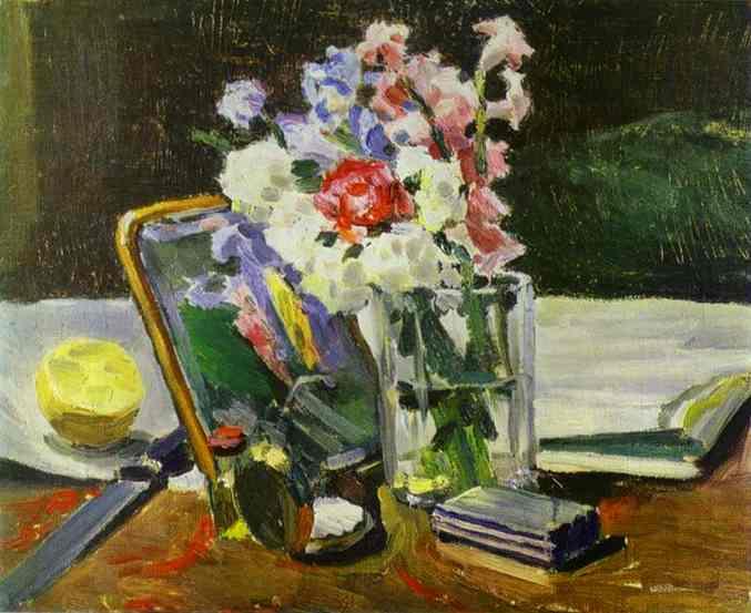 Still Life With Flowers 1902   Musatov Victor Borisov   Oil Painting