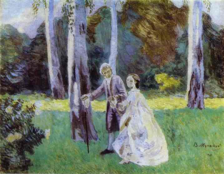 A Walk 1901 | Musatov Victor Borisov | Oil Painting