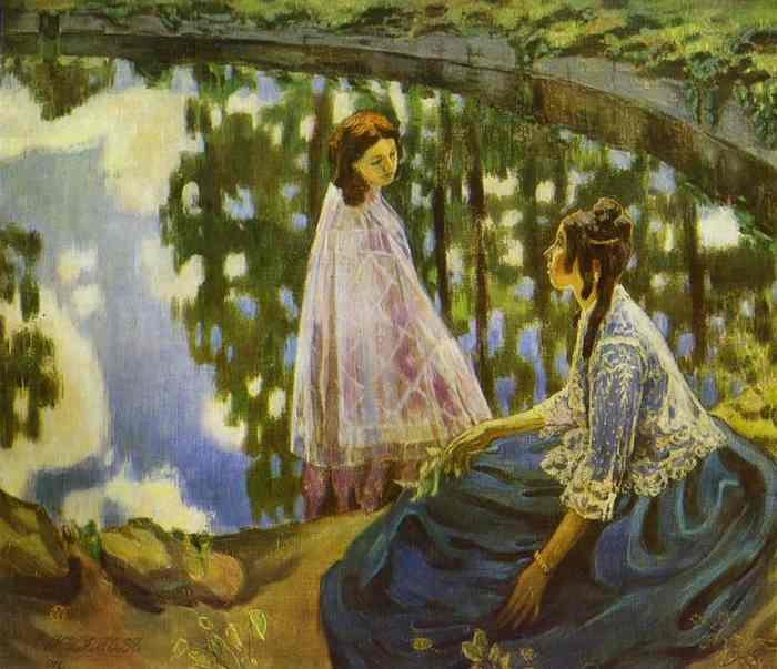 The Pool 1902   Musatov Victor Borisov   Oil Painting