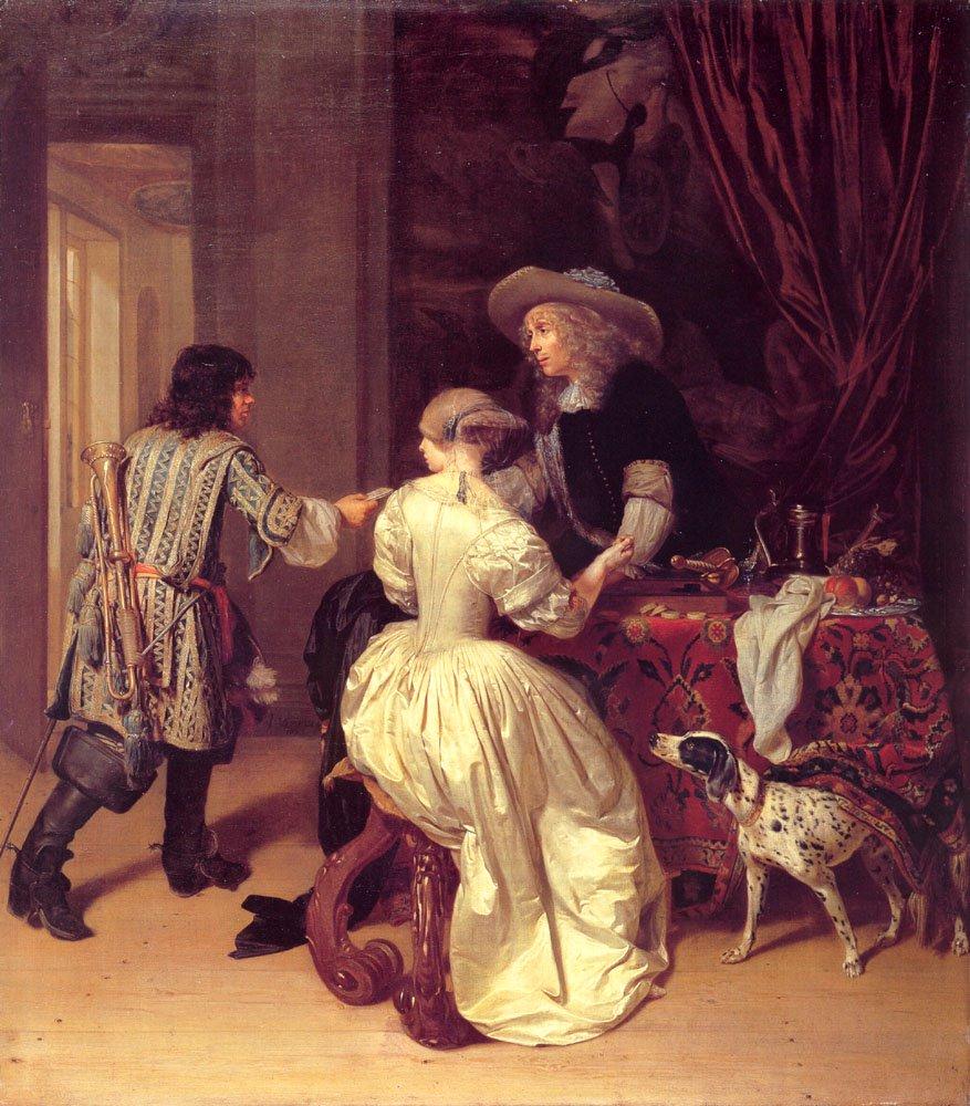 The Messenger | Johannes Verkolje | Oil Painting