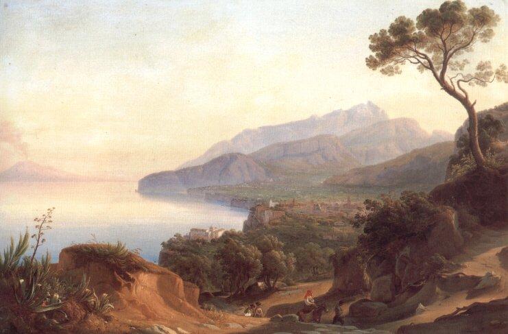 Blick auf Amalfi im Golf von Sorrent | Johann George Gmelin | Oil Painting