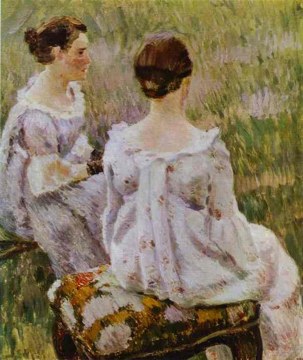 Two Ladies Sketch 1899-1900 | Musatov Victor Borisov | Oil Painting