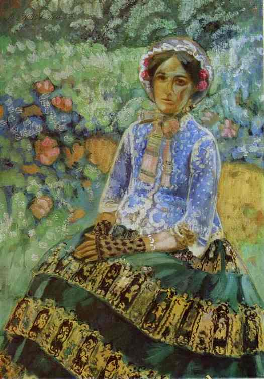 Woman In Blue 1901-1903 | Musatov Victor Borisov | Oil Painting