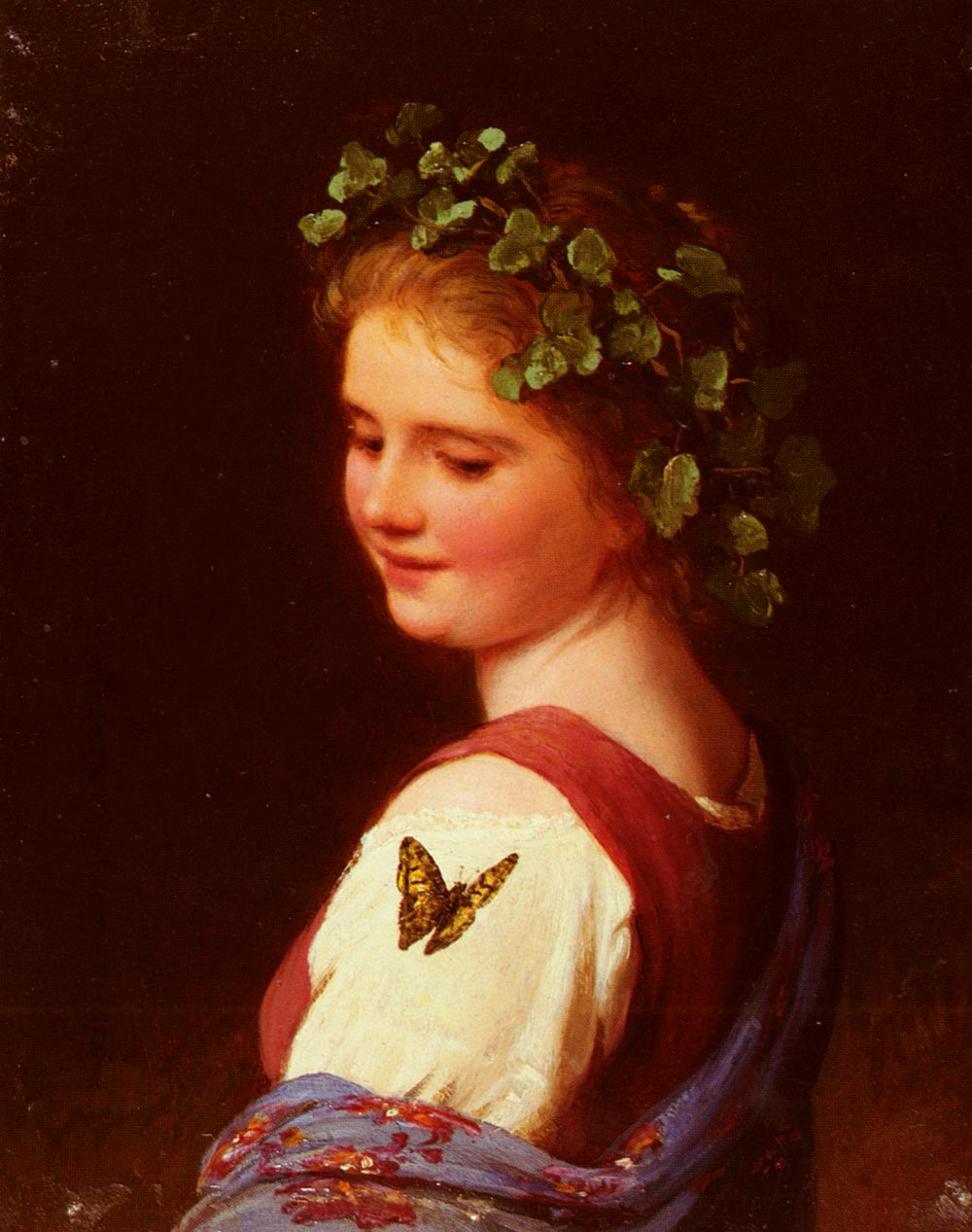 The Butterfly | Johann Georg Meyer Von Bremen | Oil Painting