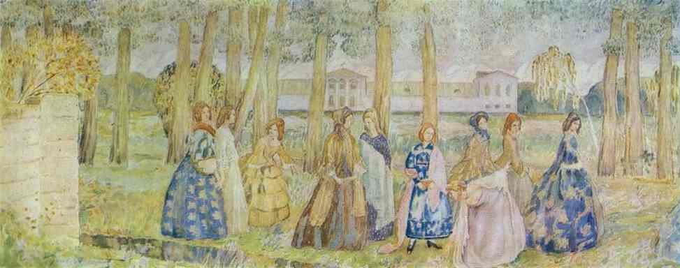 Autumn Evening 1904-05 | Musatov Victor Borisov | Oil Painting