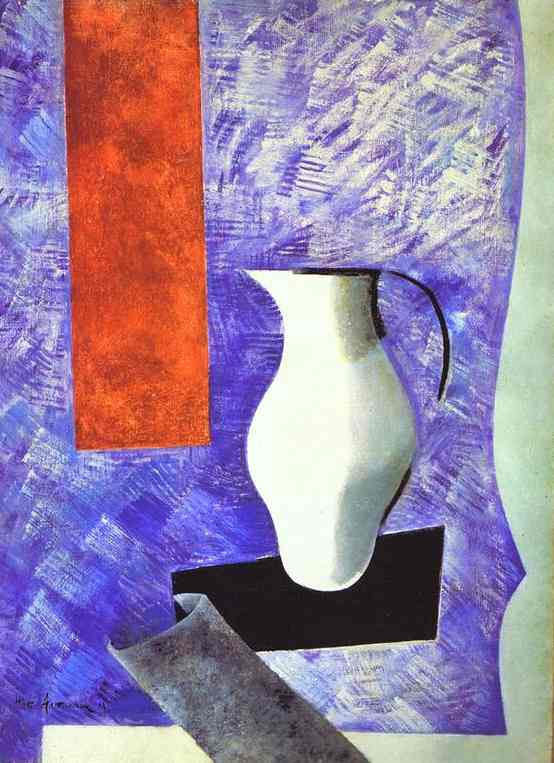 Material Painting Still Life With A White Jug 1919 | Nathan Altman | Oil Painting