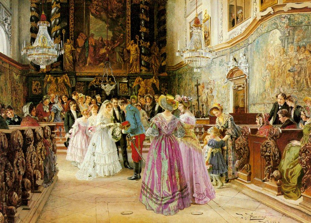 The Wedding | Johann Hamza | Oil Painting