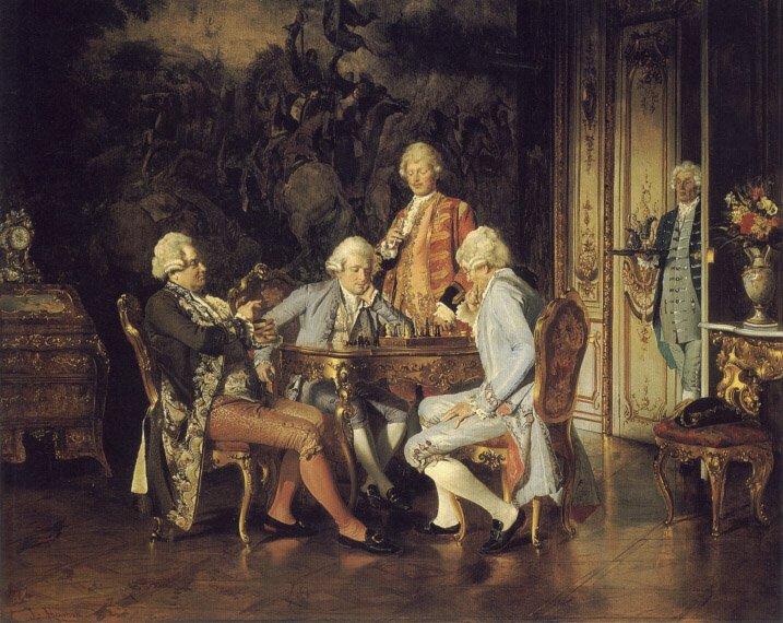 The Chess Players | Johann Hamza | Oil Painting