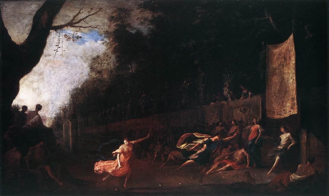 Atalanta And Hippomenes 1650-60 | Johann Heinrich Schonfeld | Oil Painting