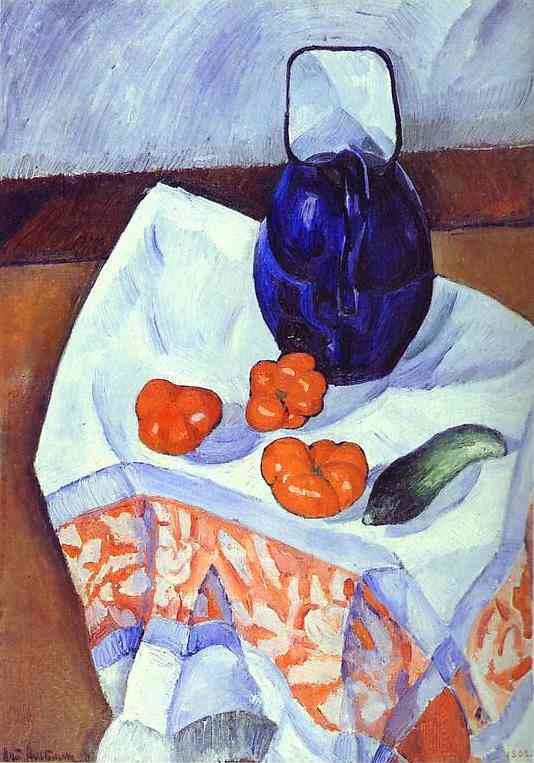 Jug And Tomatoes 1912 | Nathan Altman | Oil Painting