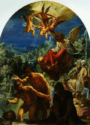 The Baptism Of Christ 1598-1600 | Adam Elsheimer | Oil Painting
