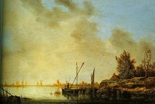 A River Scene With Distant Windmills 1640-1642 | Aelbert Cuyp | Oil Painting
