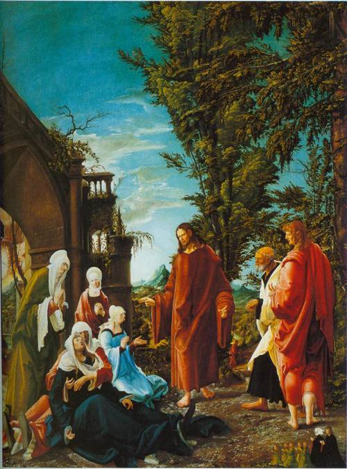 Christ Taking Leave Of His Mother 1520 | Albrecht Altdorfer | Oil Painting