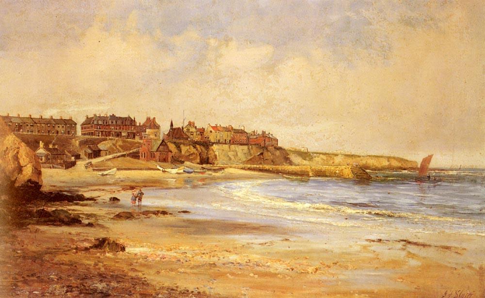Cullercoats Bay | John Alconar Slater | Oil Painting