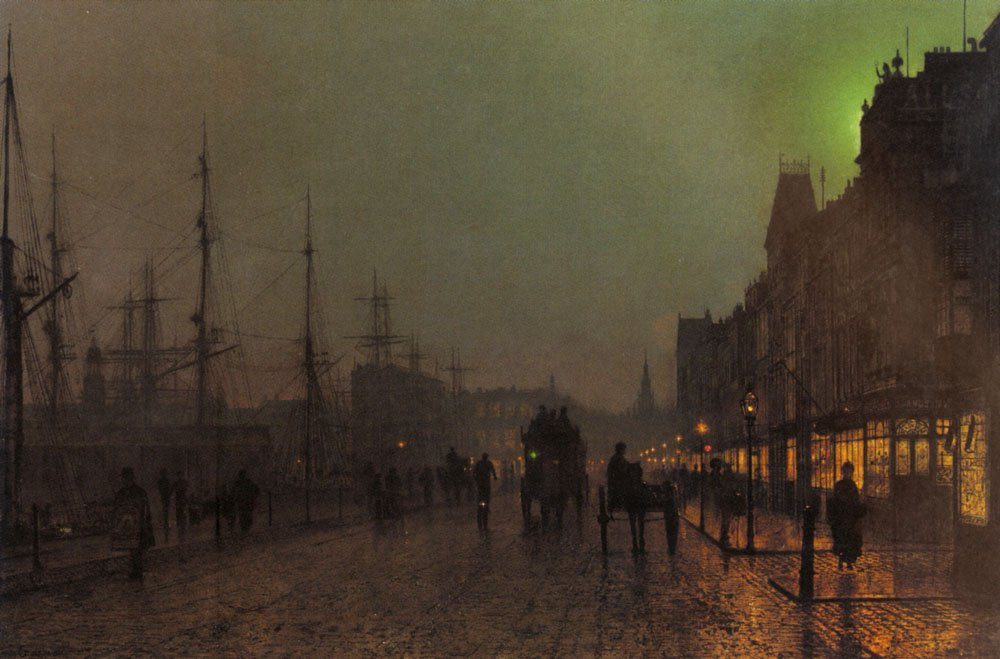 Gourock Near The Clyde Shipping Docks | John Atkinson Grimshaw | Oil Painting