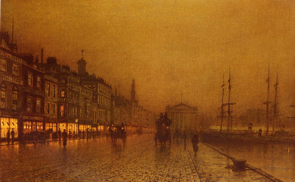 Greenock Dock | John Atkinson Grimshaw | Oil Painting