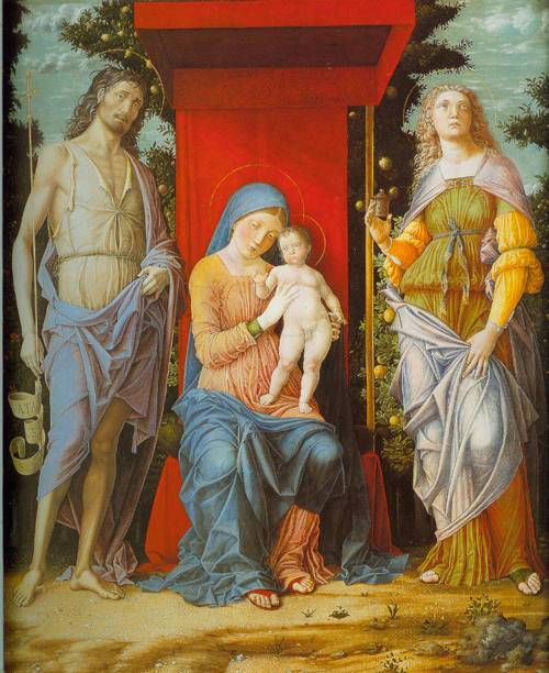 The Virgin And Child With The Magdalen And Saint John The Baptist 1500 | Andrea Mantegna | Oil Painting