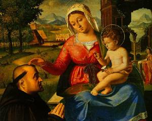 The Virgin And Child With A Donor 1510 | Andrea Previtali | Oil Painting