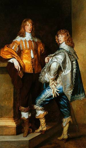 Lord John Stuart And His Brother Lord Bernard Stuart 1638 | Anthony Van Dyck | Oil Painting