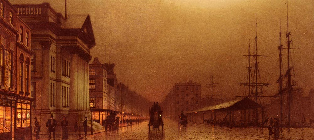 Liverpool Customs House | John Atkinson Grimshaw | Oil Painting