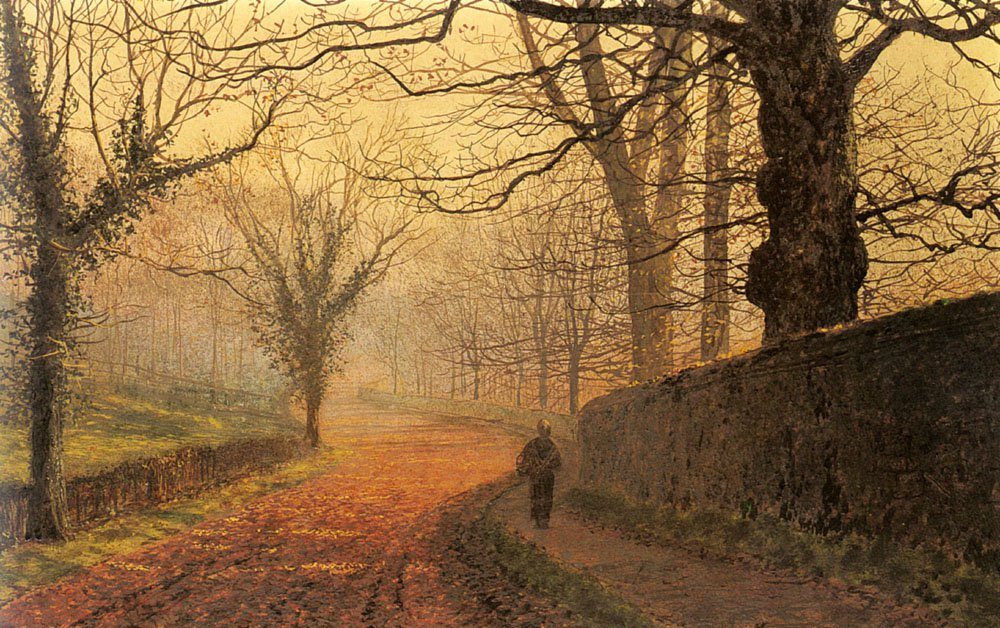 November Afternoon Stapleton Park | John Atkinson Grimshaw | Oil Painting