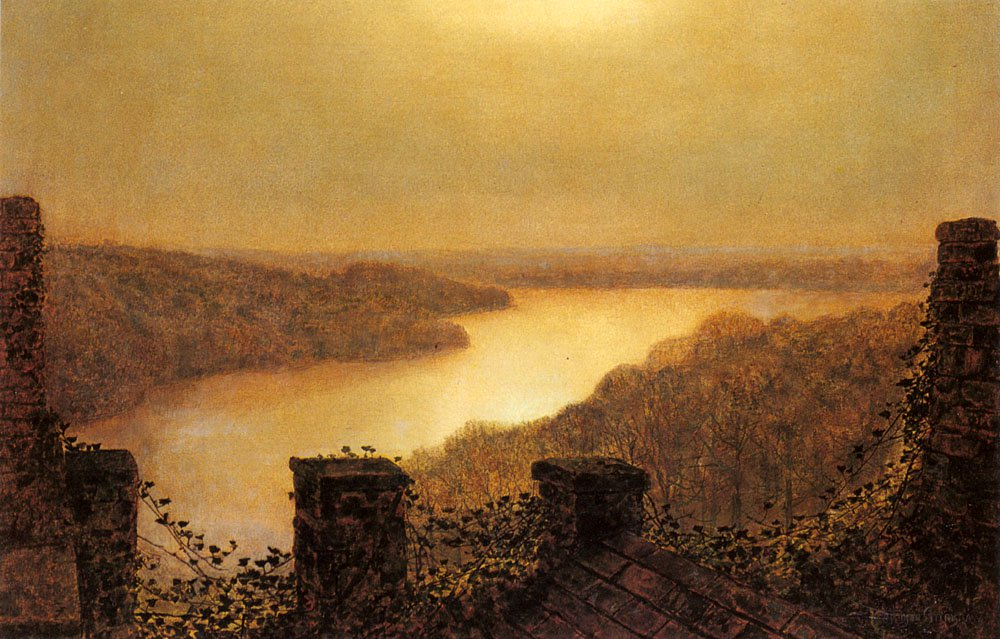 Roundhaylake From Castle | John Atkinson Grimshaw | Oil Painting