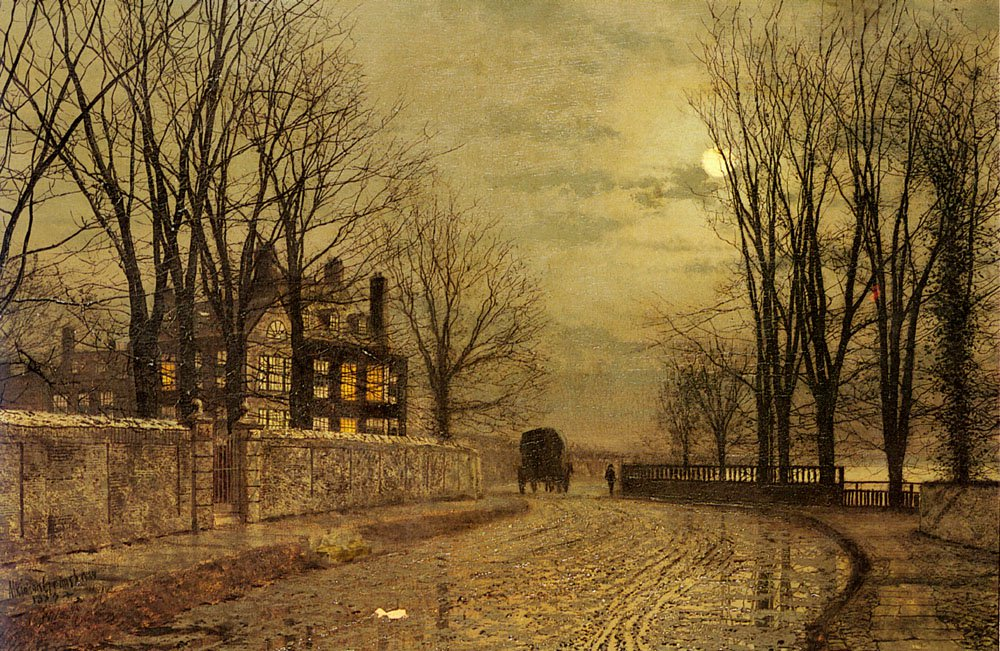 The Turn Of The Road | John Atkinson Grimshaw | Oil Painting