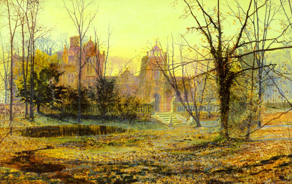 Evening Knostrop Old Hall | John Atkinson Grimshaw | Oil Painting