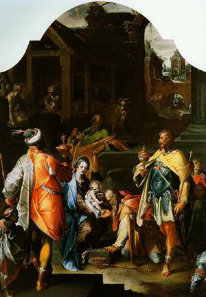 The Adoration Of The Kings 1595 | Bartholomaeus Spranger | Oil Painting