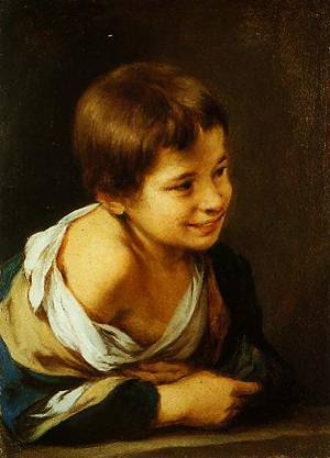 A Peasant Boy Leading On A Sill 1670-1680 | Bartolome Esteban Murillo | Oil Painting