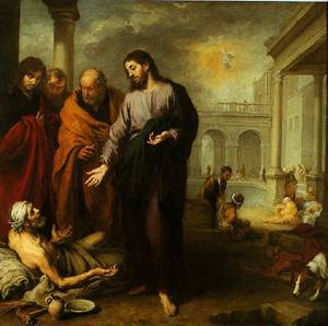 Christ Healing The Paralytic At The Pool Of Bethesda 1667-1670 | Bartolome Esteban Murillo | Oil Painting