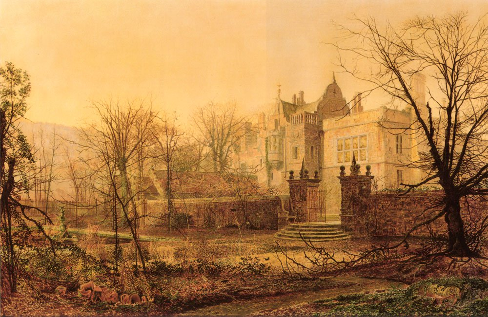 Knostrop Hall Early Morning | John Atkinson Grimshaw | Oil Painting