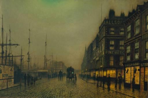 Liverpool Quay by Moonlight | John Atkinson Grimshaw | Oil Painting