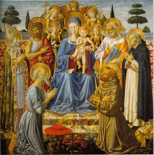 The Virgin And Child Enthronde Among Angels Dan Saints 1461-62 | Benozzo Gozzoli | Oil Painting
