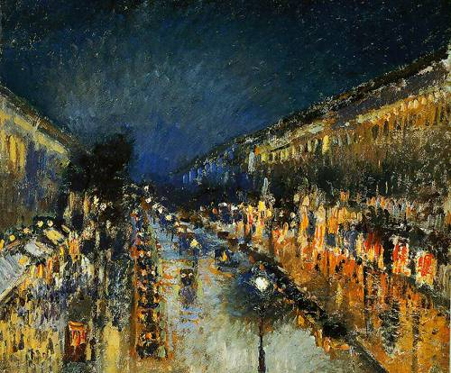 The Boulevard Montmartre At Night 1897 | Camille Pissarro | Oil Painting
