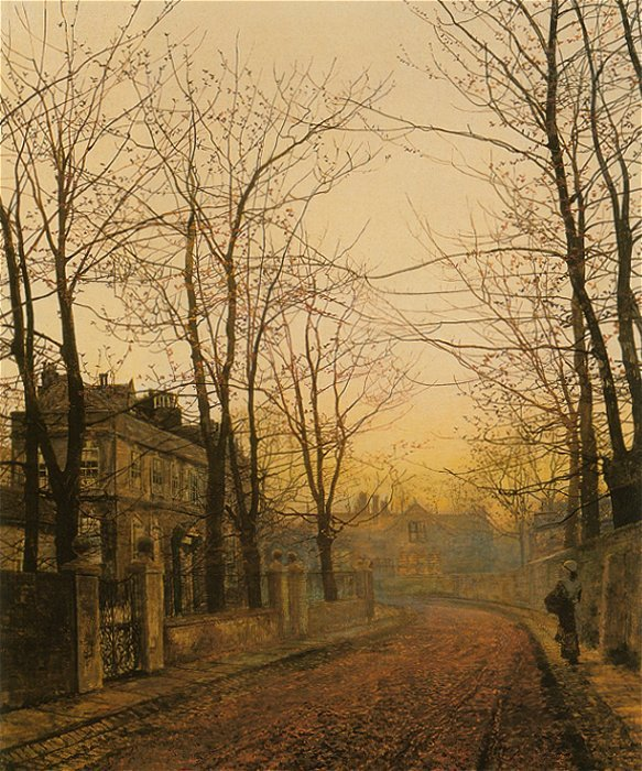An Autumn Idyll 1885 | John Atkinson Grimshaw | Oil Painting