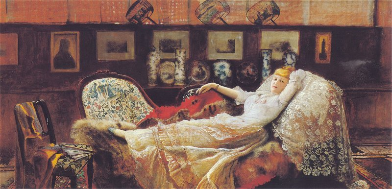 Day Dreams 1877 | John Atkinson Grimshaw | Oil Painting