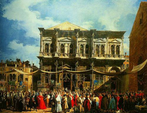 Venice The Feast Day Of Saint Roch 1735 | Canaletto | Oil Painting