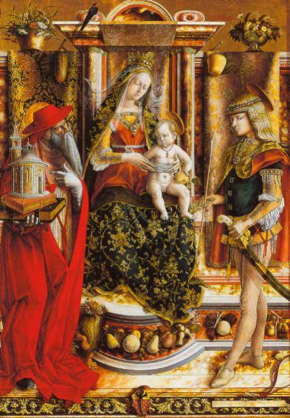 La  Madonna Della Rondine 1490-92 | Carlo Crivelli | Oil Painting