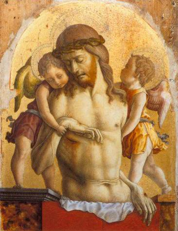 The  Dead Christ Supported By Two Angels 1473-75 | Carlo Crivelli | Oil Painting