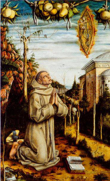 The  Vision Of The Blessed Gabriele Ferretti 1489 | Carlo Crivelli | Oil Painting