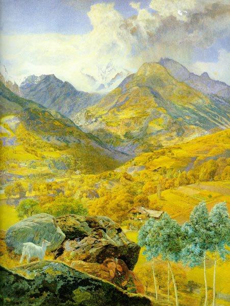 The Val d Aosta 1858 | John Brett | Oil Painting