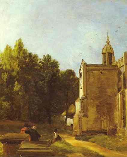 A Church Porch (The Church Porch East Bergholt) 1809 | John Constable | Oil Painting