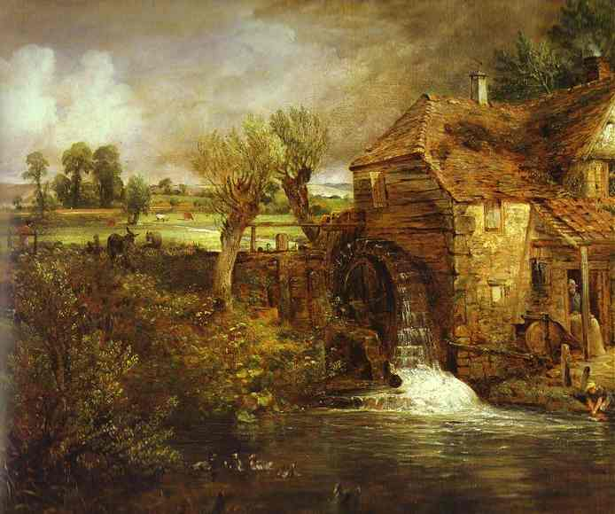 A Mill At Gillingham In Dorset (Parhams Mill) 1826 | John Constable | Oil Painting