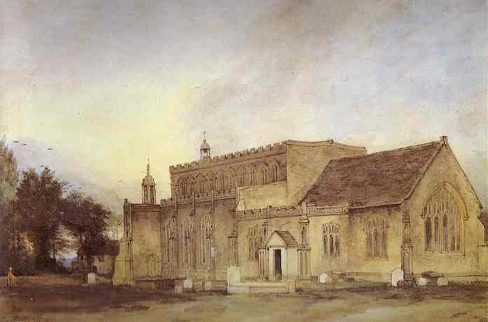 East Bergholt Church 1811 | John Constable | Oil Painting